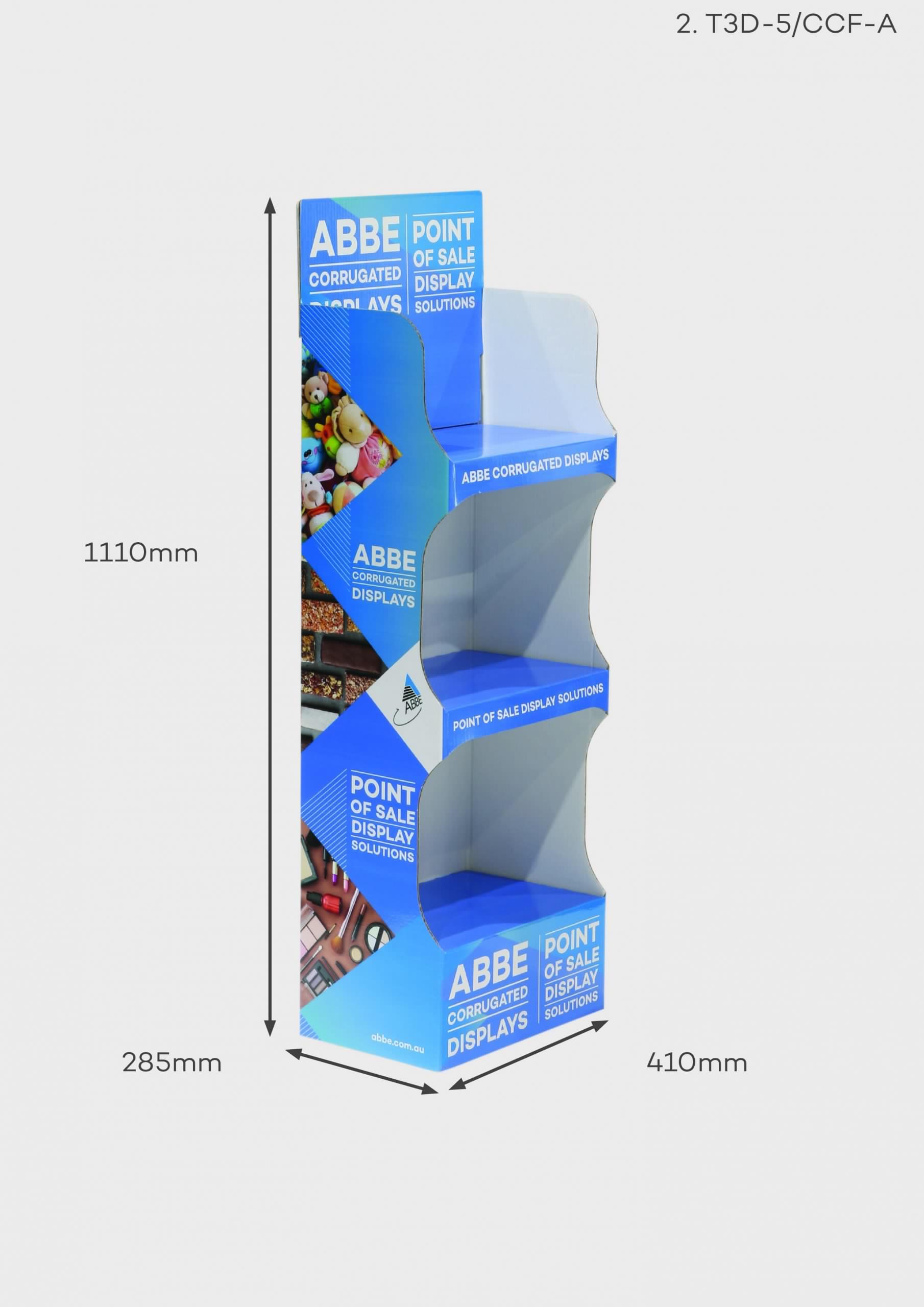 3 Shelf Display (Ref T3D-5/CCF-A)