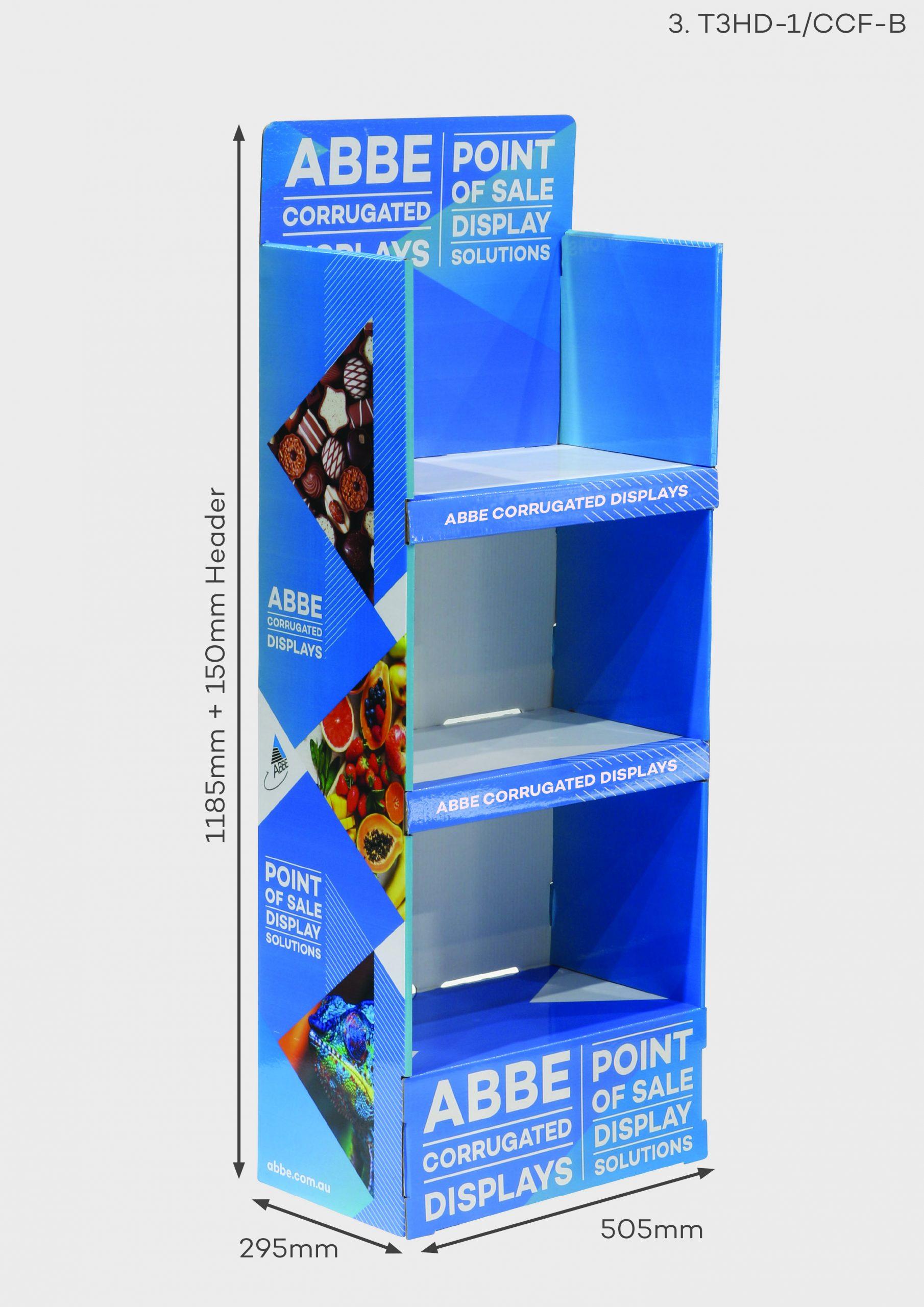 3 Shelf Display (Ref T3HD-1/CCF-B)