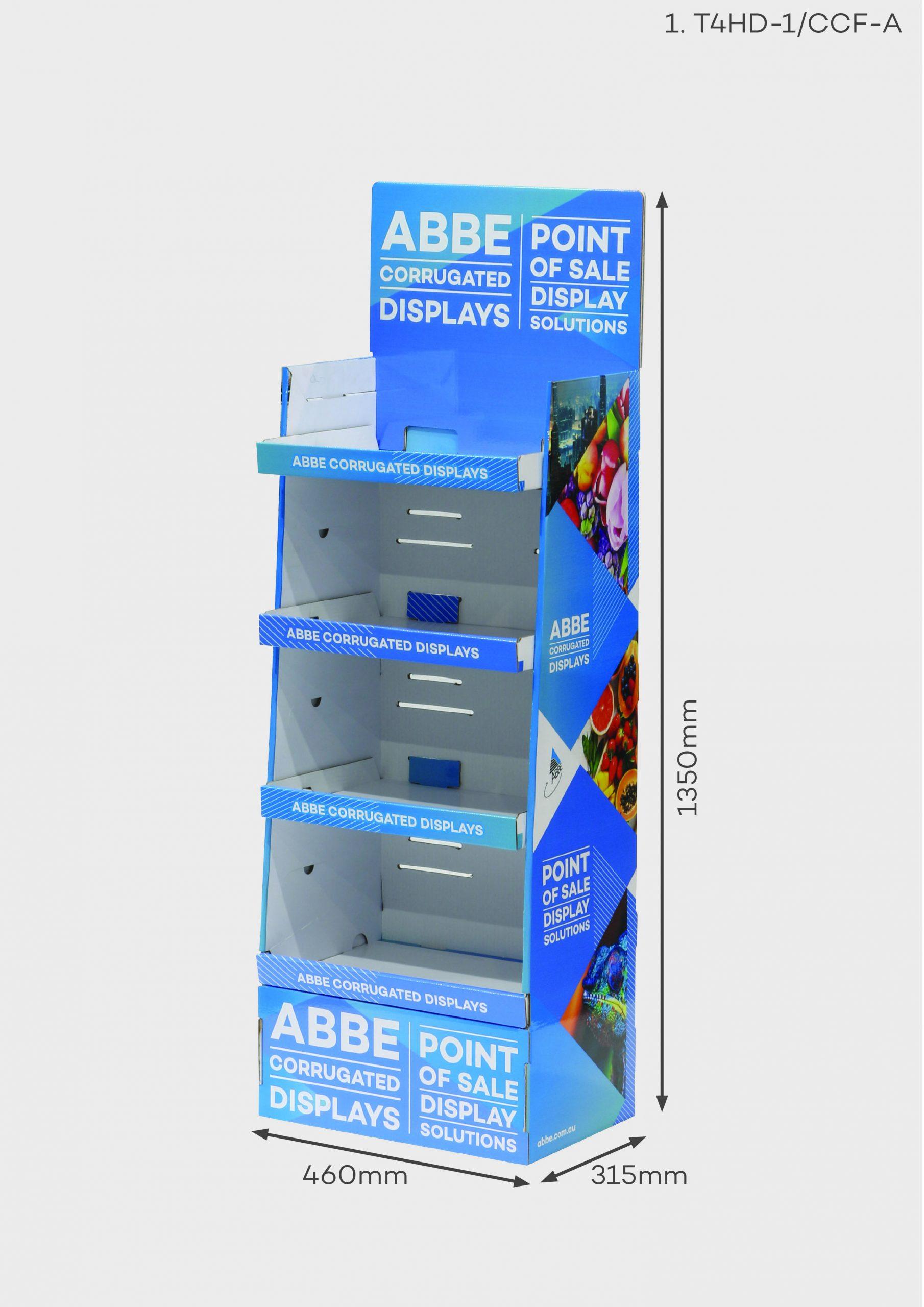 4 Shelf Medium Display Unit (Ref T4HD-1/CCF-A)
