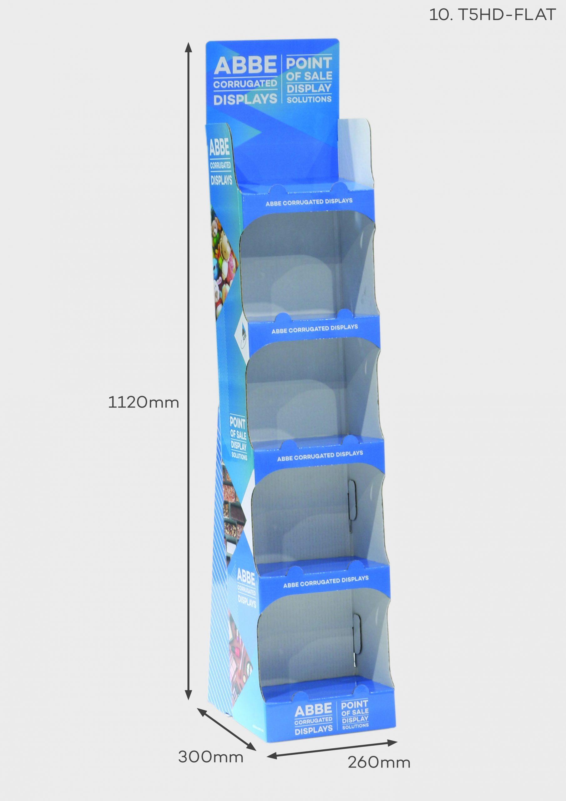 5 Shelf Slimline Display (Ref T5HD-FLAT)