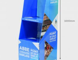 2-Shelf Angled Display Unit