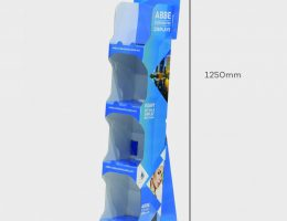 4 Shelf Narrow Slimline Display
