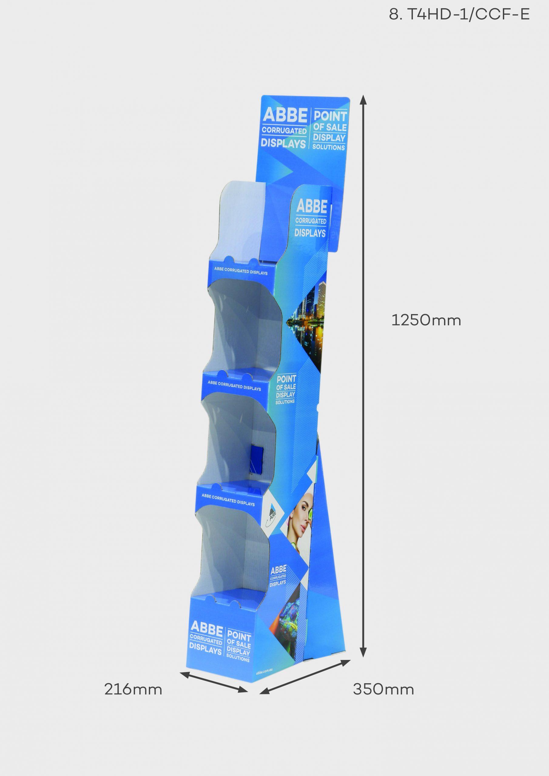4 Shelf Slimline Convenience/Pharmacy Display (Ref T4HD-1/CCF-E