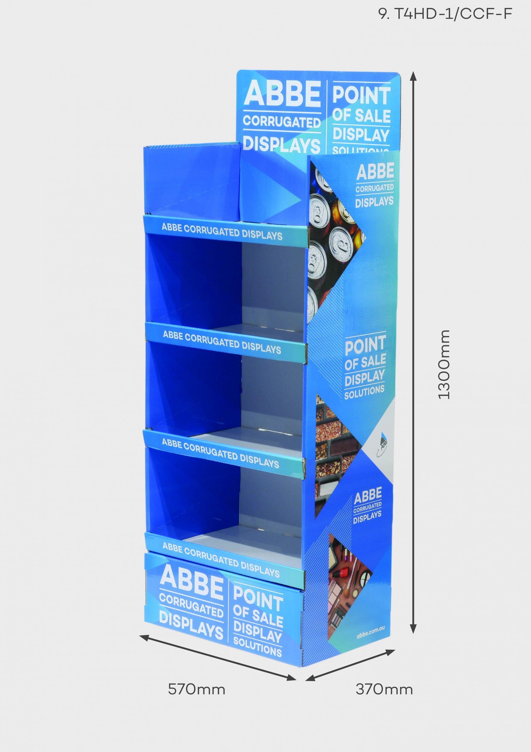 4 Shelf Wide Display (T4HD-1/CCF-F)
