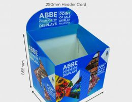 Promotional Dump Bin – Angled design