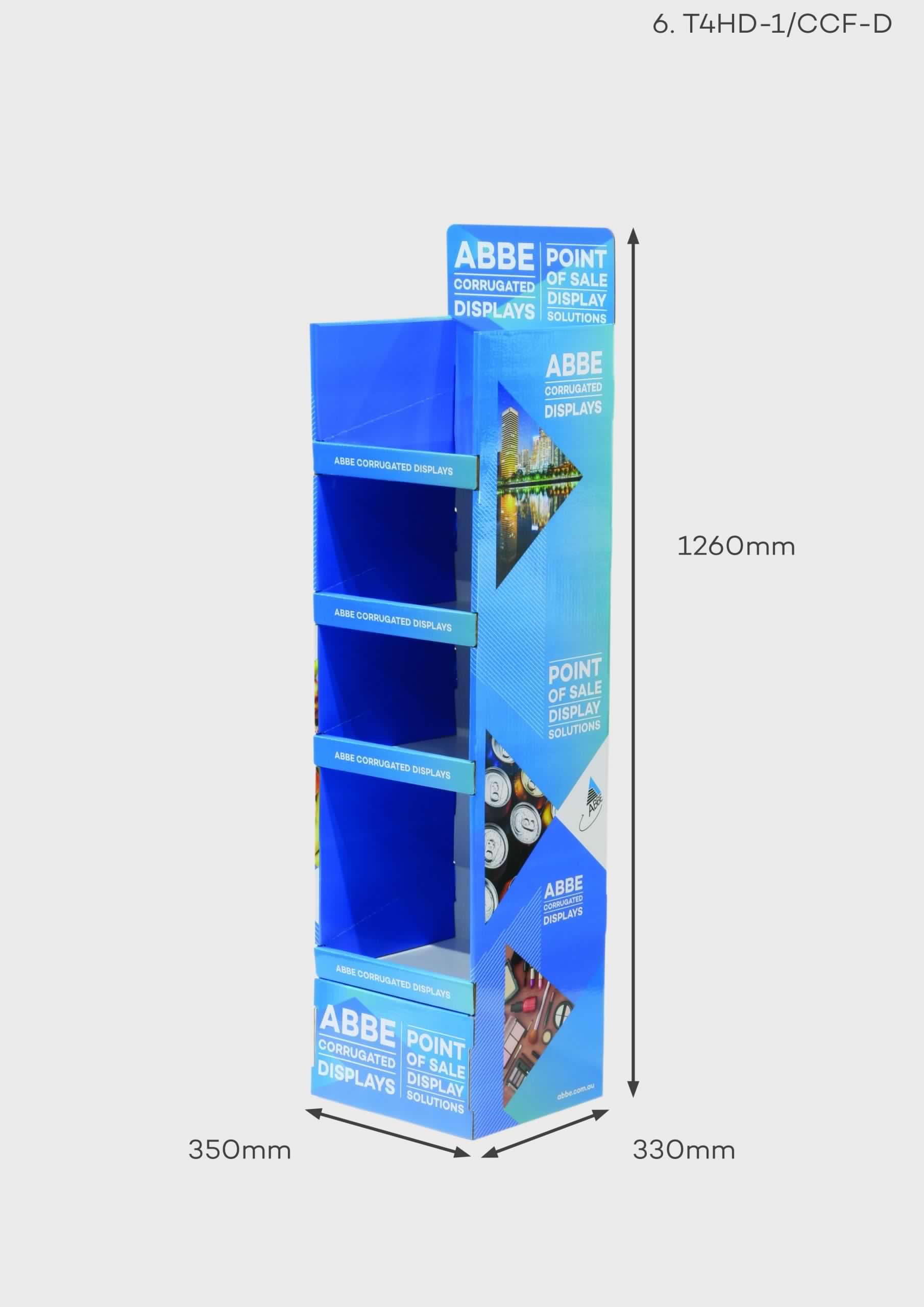 4 Shelf Display Unit (Ref T4HD-1/CCF-D)