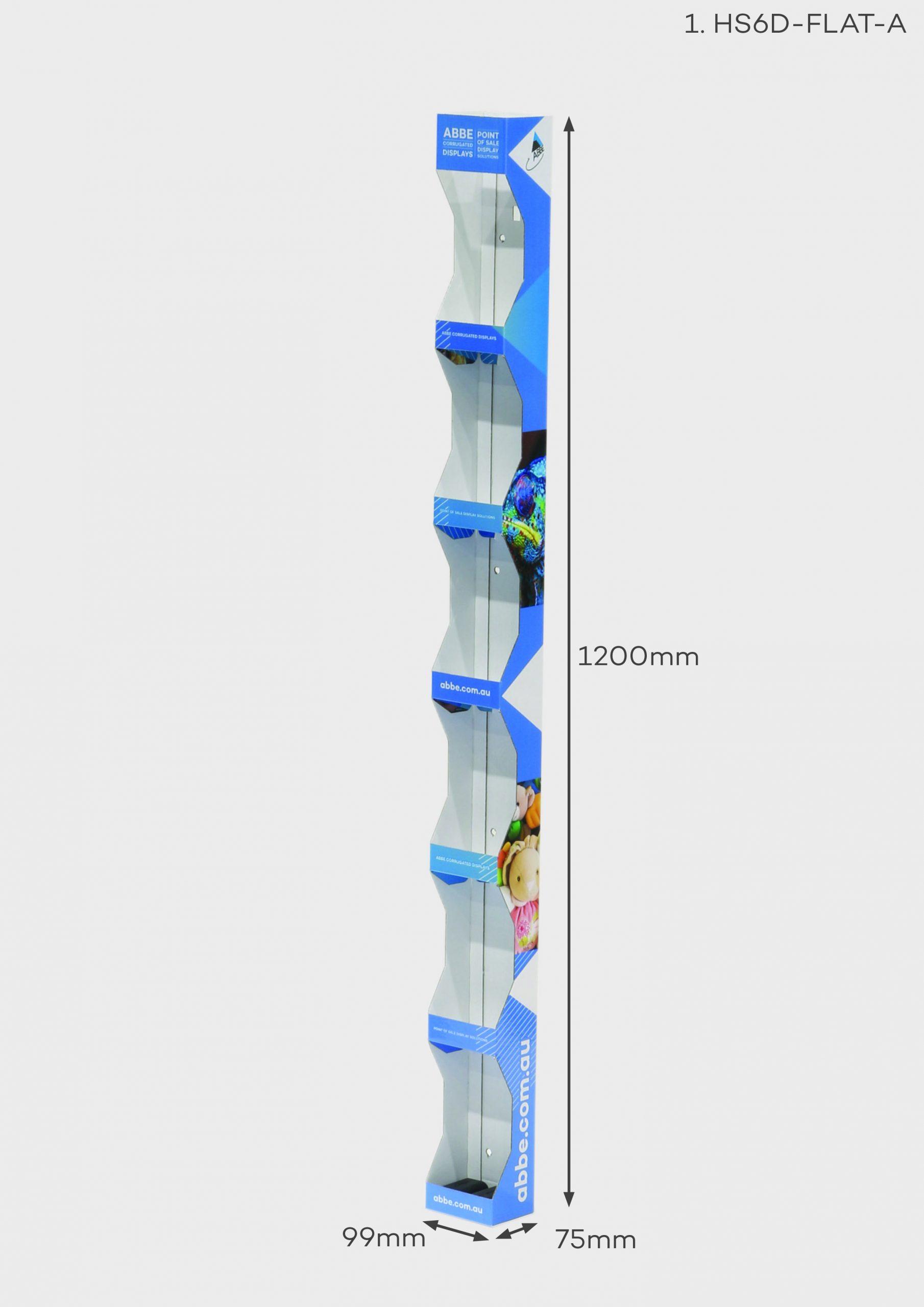 6 Shelf Hangsell Display (Ref HS6D-FLAT-A)