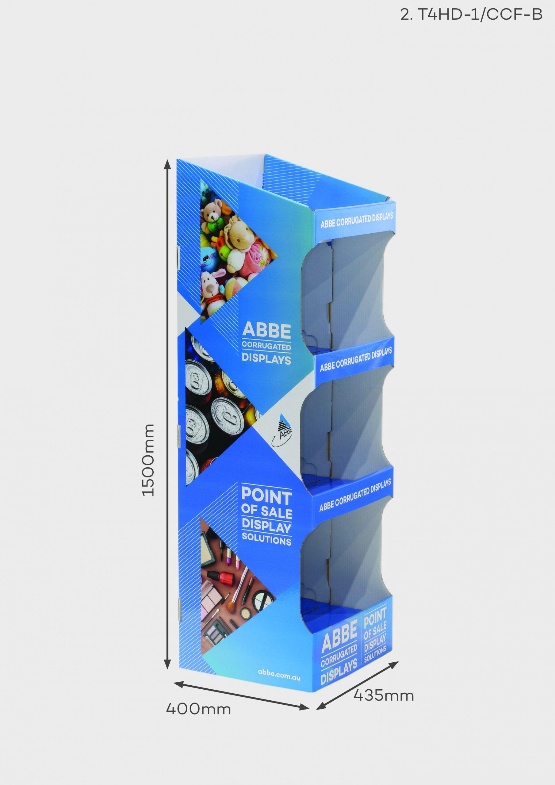 4 Shelf Large Display Unit (Ref T4HD-1/CCF-B)