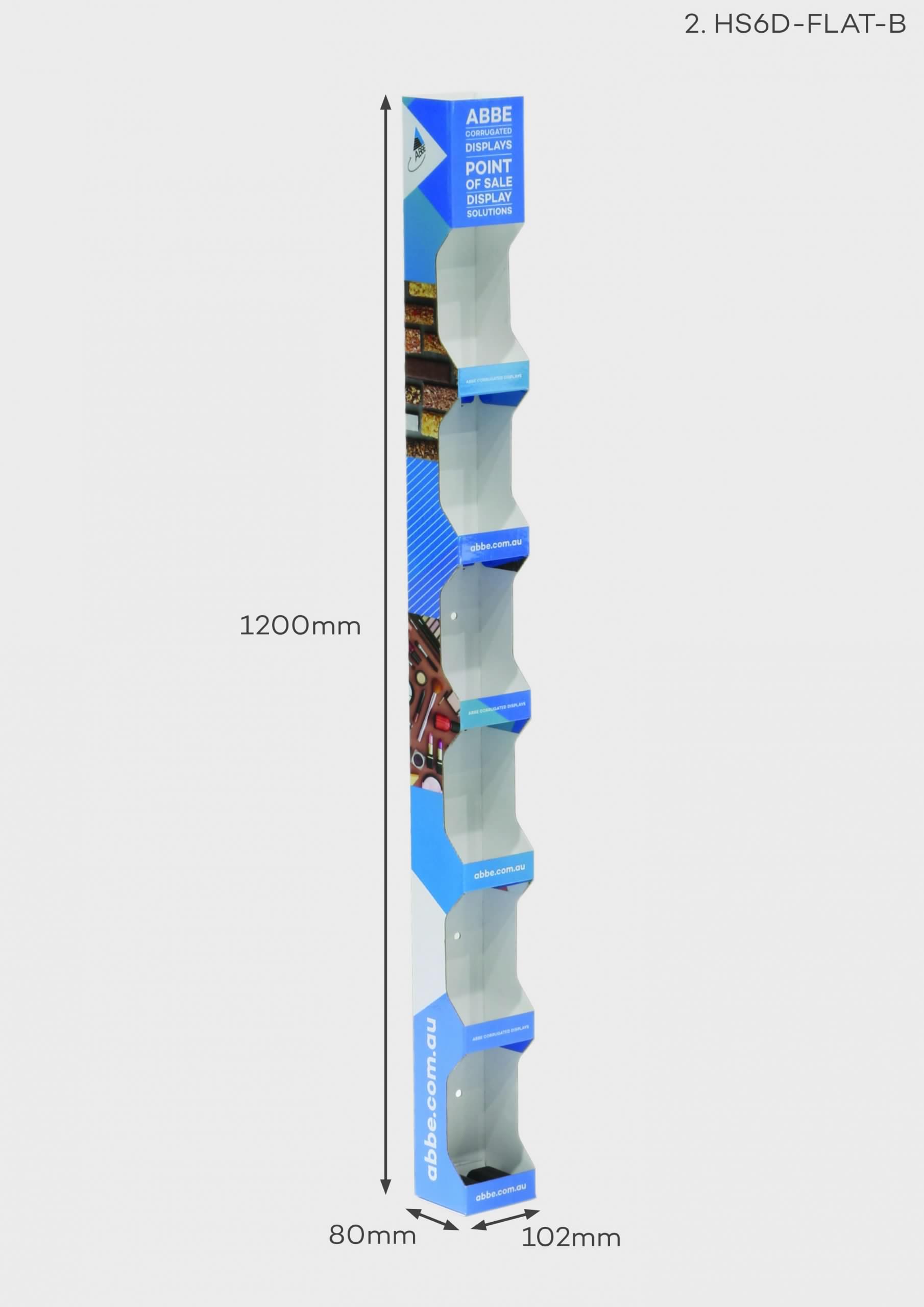 6 Shelf Hangsell Display (Ref HS6D-FLAT-B)