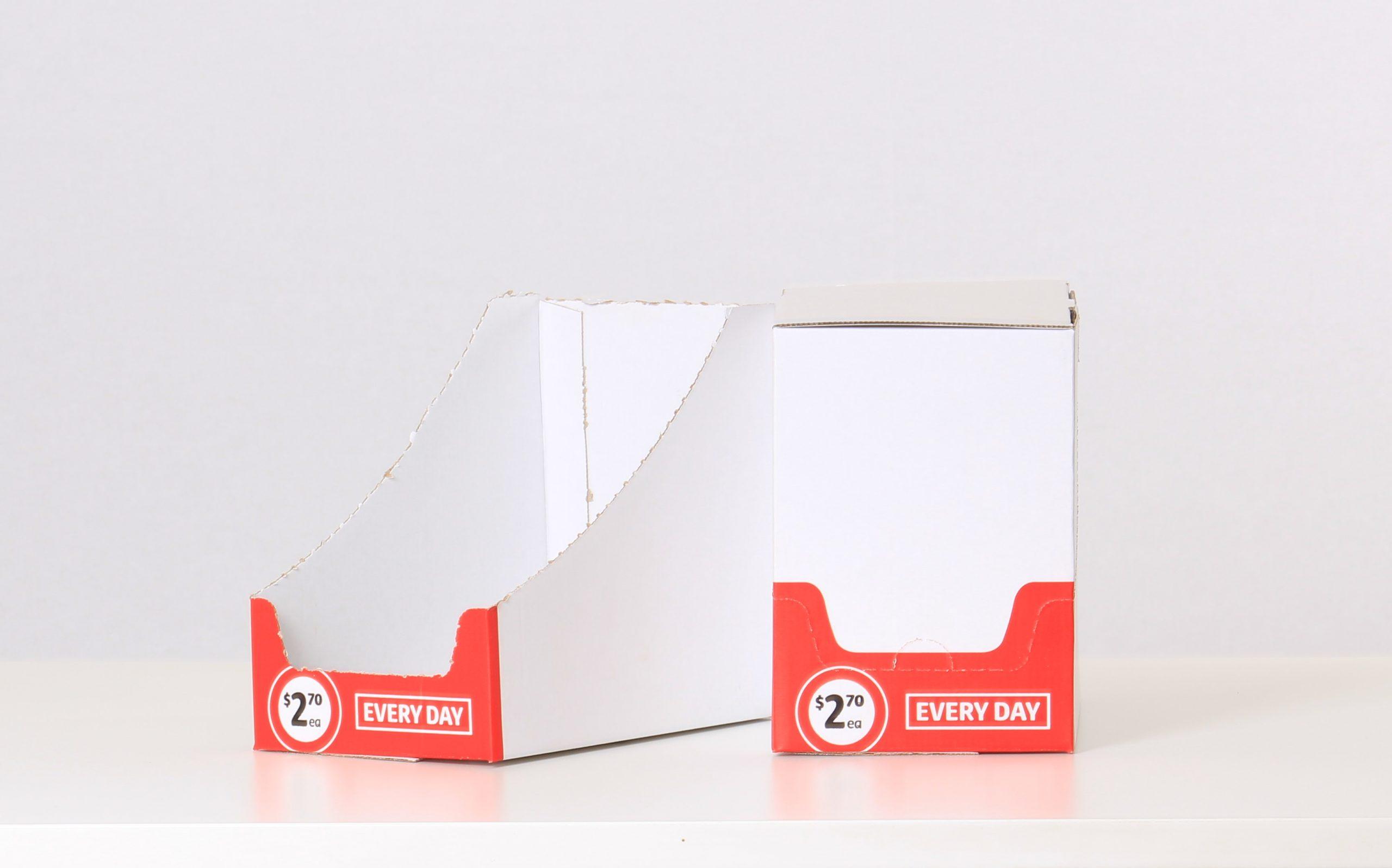 Perforated Shelf ready carton 2 colour Flexo