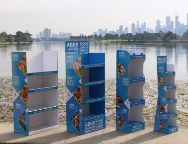 ABBE CORRUGATED LAUNCHES POS/POP DISPLAYS RANGE